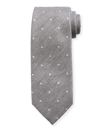 TOM FORD Melange Small-Dot Silk/Cotton Tie