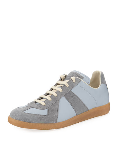 Men's Replica Suede & Leather Low-Top Sneakers