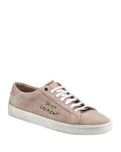 Suede Low-Top Logo Sneaker