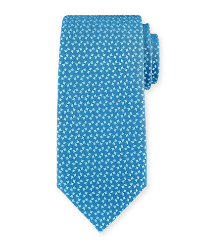 Abstract Box-Pattern Silk Tie