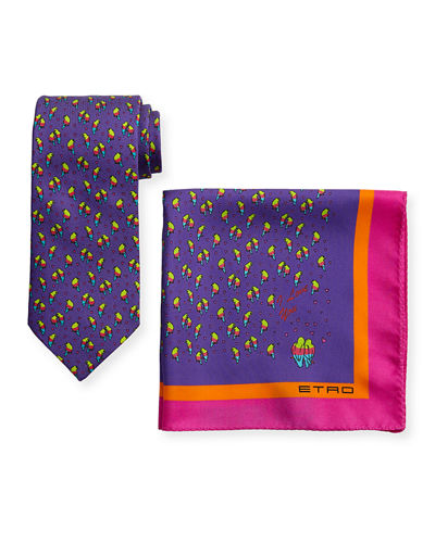 Ladybugs Boxed Tie & Pocket Square Set