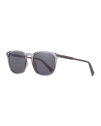 Men's Thin Square Plastic Sunglasses