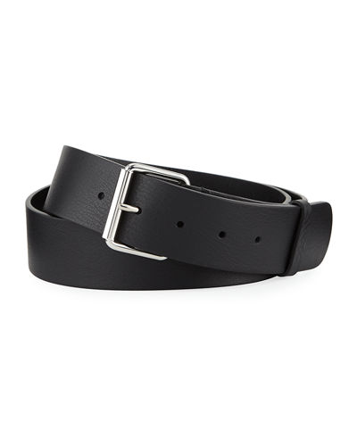Men's Printed Single Logo Leather Belt