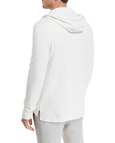 Hooded Pima Cotton Henley Top