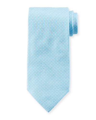 Isaia Dot Textured Silk Tie