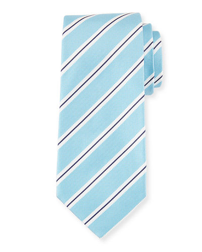 Framed Stripe Silk Tie