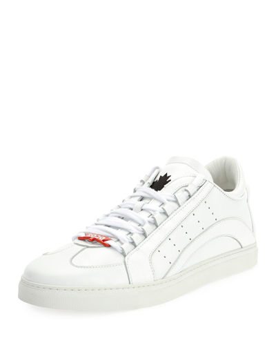 Dsquared2 Mens Stripe Leather Low-Top Sneakers Cheap Sale Affordable Sale Wholesale Price Free Shipping Order Rr0qG051