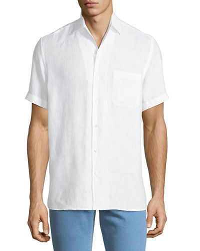 Men's Arizona Linen Short-Sleeve Sport Shirt