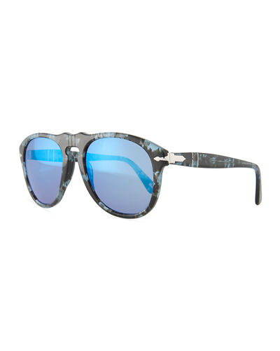 649-Series Mirrored Aviator Sunglasses