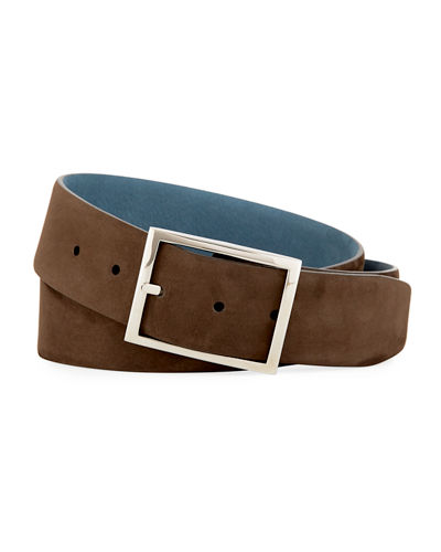 Reversible Nubuck Suede Belt