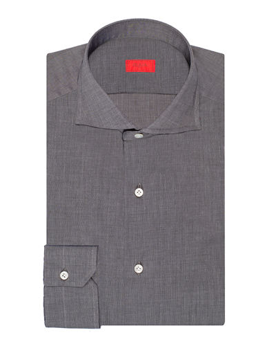 Men's Cotton Chambray Dress Shirt