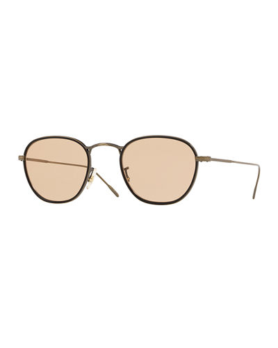 Men's Row Eoin Round Metal Sunglasses