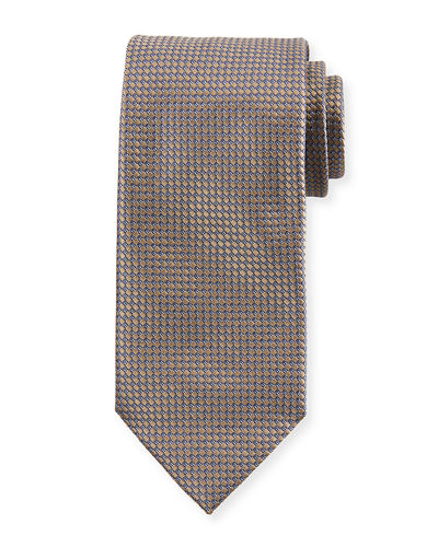 Brioni Men's Diamonds-Pattern Silk Tie