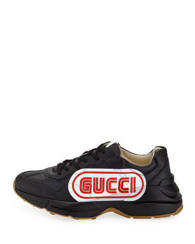 fb0875d7ce1 Gucci Rhyton Gucci Print Leather Sneaker