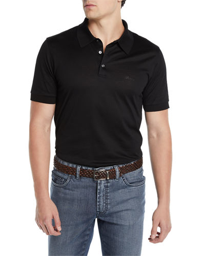 cfd79129 Brioni Men's Three-Button Jersey Polo Shirt