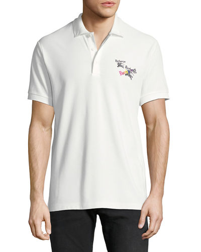 Men's Burnton Rainbow-Logo Polo Shirt