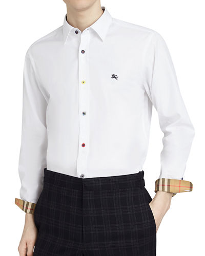 c6e2fef6 Burberry Men's William Poplin Sport Shirt