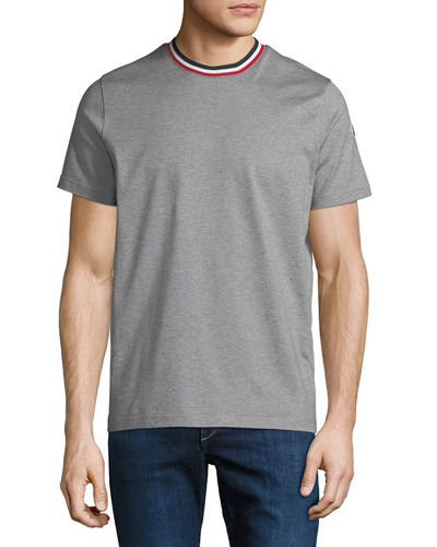Men's Striped-Collar T-Shirt