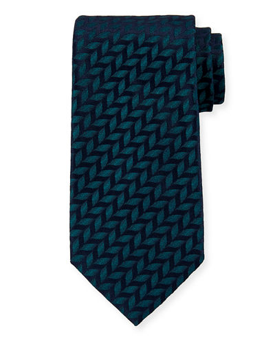 Charvet Leaves Silk Tie