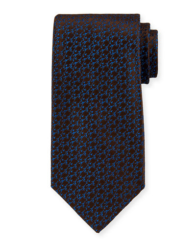Thorns Pattern Silk Tie