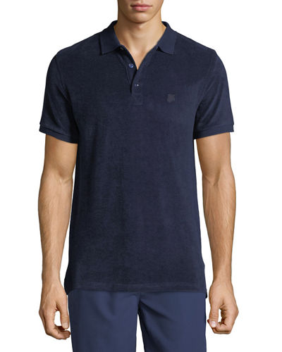 Men's Terry Knit Polo Shirt