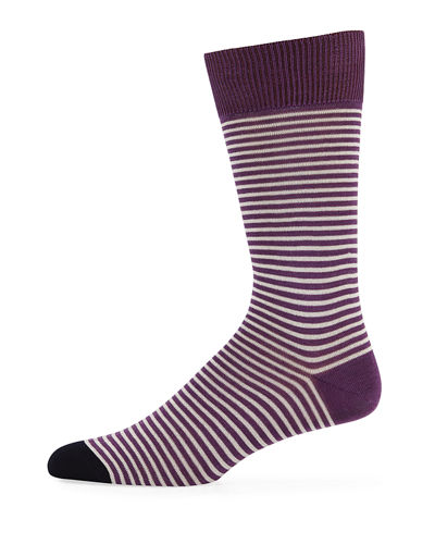 Men's Mini Two-Striped Socks