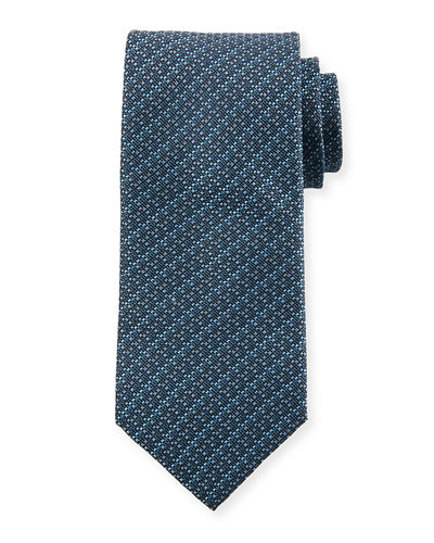 Screen Weave Silk Tie