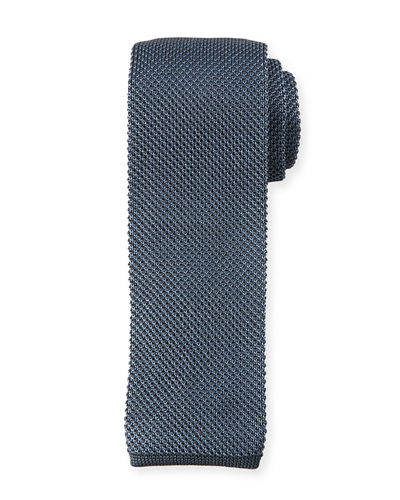 Two-Tone Silk Knit Tie