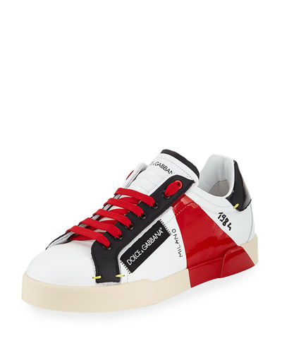 Men's Roma Leather Low-Top Sneakers