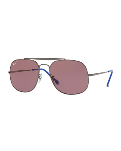 The General Men's Polarized Aviator Sunglasses