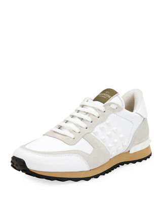 Valentino Rockrunner Striped Sneakers