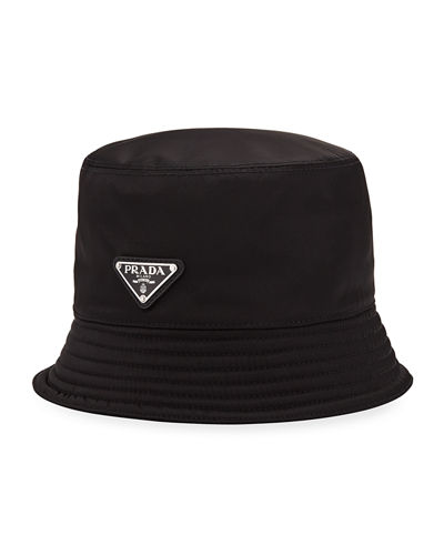 31bdaabffef Prada Men s Nylon Bucket Hat with Logo