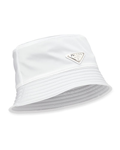 526c62630cc Prada Men s Nylon Bucket Hat with Logo