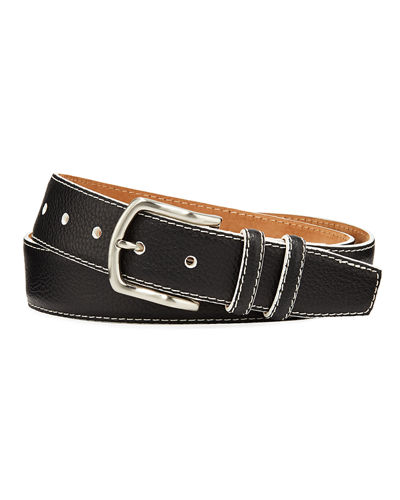 Men's South Beach Pebbled Leather Belt
