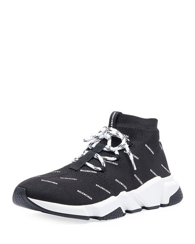 a8fc5118401 Men's Speed Lace-Up Logo Mesh Sneakers