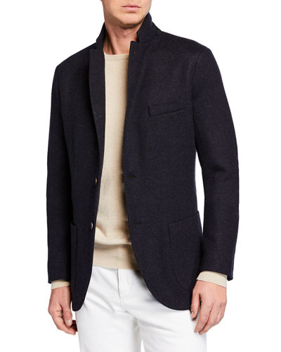 Men's Heathered Cashmere Sweater Jacket