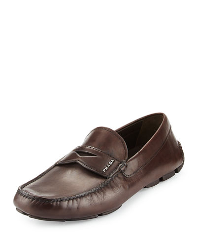 Calf Leather Driving Loafer