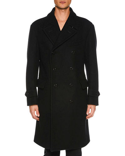 Men's Double-Breasted Trench Coat