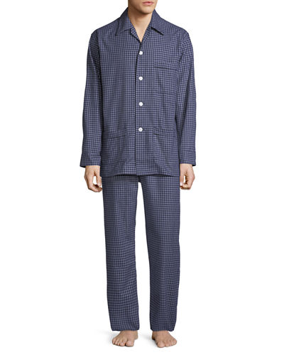 Men's Braemar 32 Check Cotton Pajamas