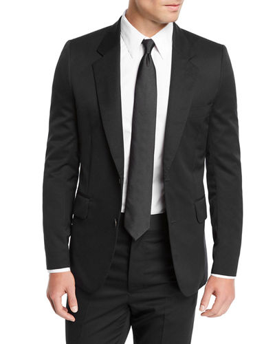 Men's David Single-Breasted Two-Piece Wool Suit