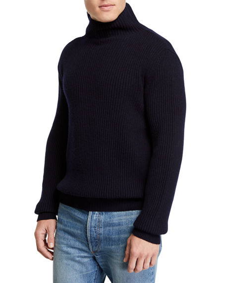 Cashmere Sweater Rollneck Ribbed Jackson The Row Navy tPcq0U7