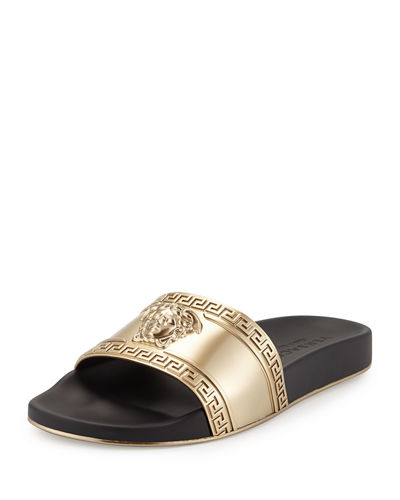 Men's Medusa-Head Slide Sandals