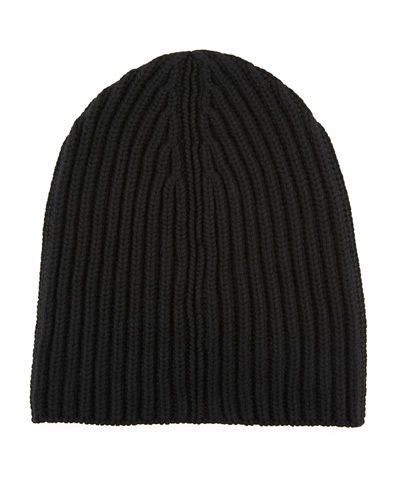 Men's Cashmere Rib-Knit Beanie