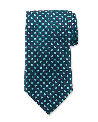 Two-Tone Dots Silk Tie