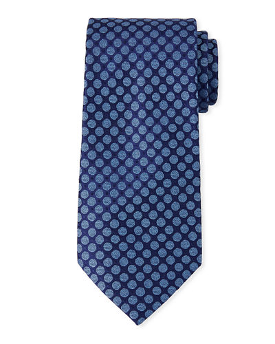 Charvet Men's Multi-Circles Silk Tie