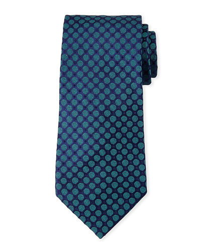 Charvet Men's Medium Circles Silk Tie