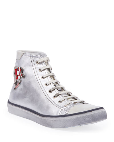 190a4127e2f Men s Bedford Metallic Leather High-Top Sneakers