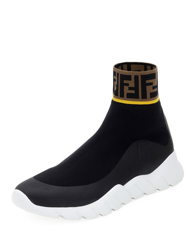 8161185184808 Men s Fendi Mania Reloaded FF Sock Sneakers Quick Look