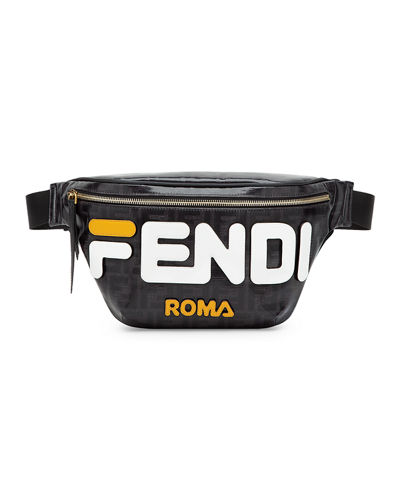 Men's Fendi Mania Coated Canvas Belt Bag/Fanny Pack