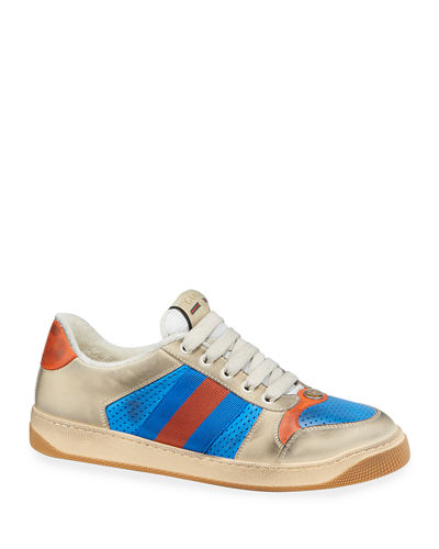 f621713e00b6 Men s Distressed Leather Sneakers Quick Look. Gucci